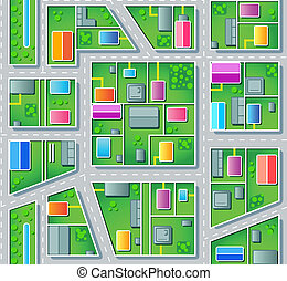 Seamless suburb plan - Seamless city suburb plan with...