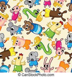 seamless summer animal pattern