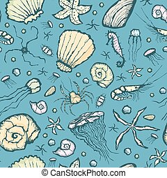 seamless summer beach pattern
