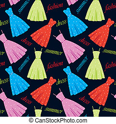 Seamless summer dresses pattern