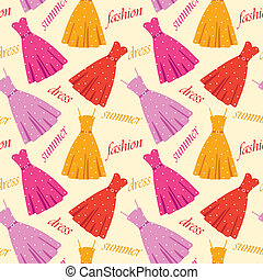 Seamless summer dresses pattern