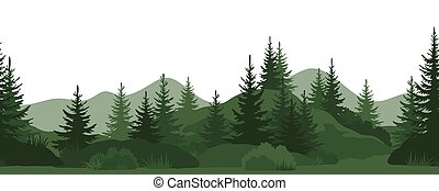 Seamless, Summer Forest