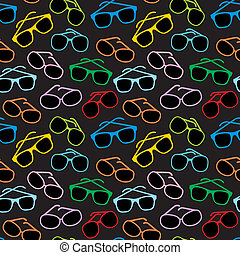 Seamless sun glasses accessories - Vector illustration,...