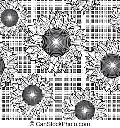 seamless, sunflowers.