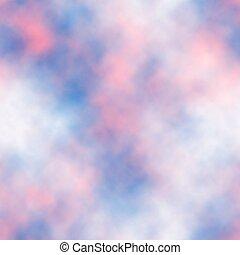 Seamless sunset sky tile