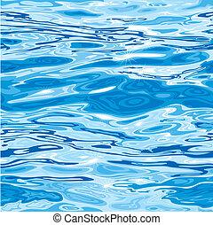 seamless, superfície água, padrão