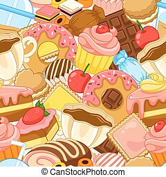 seamless sweets pattern