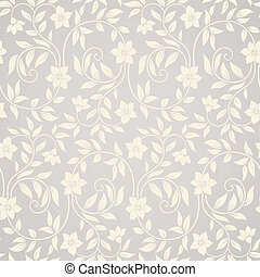 Seamless swirl floral background