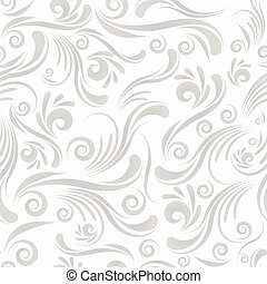 Gray seamless swirl ornament for yours design