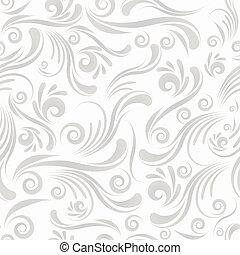 Seamless swirl ornament - Gray seamless swirl ornament for...
