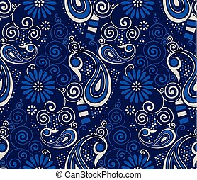Seamless swirly paisley pattern design