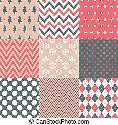 seamless, symbol, jul, mønster