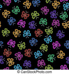Seamless, Symbolical Butterflies - Seamless Background, Tile...