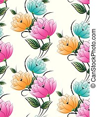 seamless, têxtil, floral, fundo
