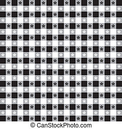 Seamless Tablecloth Gingham Pattern - Seamless pattern,...