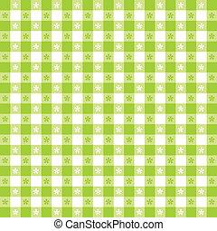 Seamless Tablecloth Gingham Pattern - Seamless pattern,...