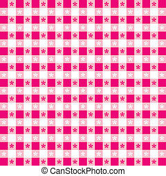 Seamless Tablecloth Gingham Pattern - Seamless pattern, hot...