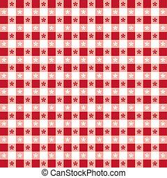 Seamless Tablecloth Gingham Pattern - Seamless pattern, red...