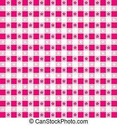 Seamless Tablecloth Gingham Pattern - Seamless pattern, hot...