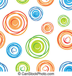 Colorful seamless tangles pattern over white background