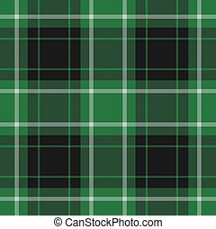 seamless tartan - green - seamless illustration - green and...
