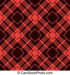 Seamless Tartan Pattern. Lumberjack Flannel Shirt Inspired....