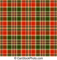 Seamless tartan pattern - Seamless red and green pattern...