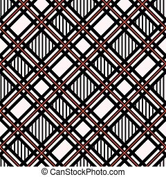 Seamless tartan plaid pattern. Checkered fabric texture print in gray, taupe, beige and white, eps 10