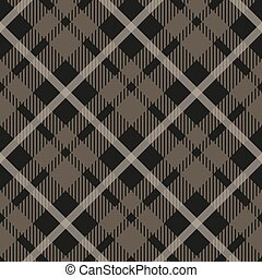 Seamless tartan plaid pattern in taupe, beige, grey and white. Classic fabric texture for digital textile printing. eps10
