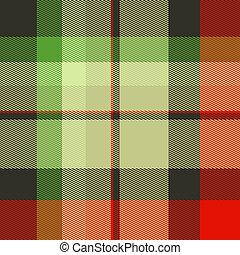 Seamless Tartan Textile Print