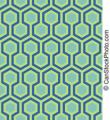 seamless teal hexagon pattern - teal hexagons outlined in...