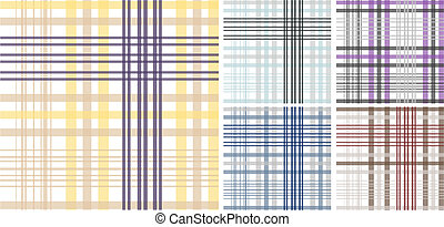 seamless, tecido xadrez, padrão, fundo
