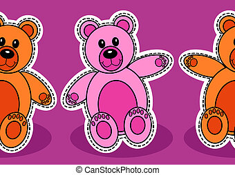 Seamless teddy bear pattern