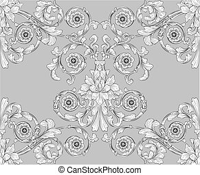 seamless, tegolato, floreale, modello carta parati
