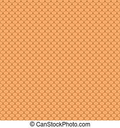 Seamless terracota roof tile
