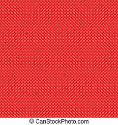 Seamless terracota roof tile vector pattern