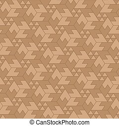 Seamless, Tessellate Arrangement of Brown Hexagons and...