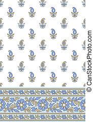 Seamless vector textile design-border