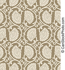 Seamless textile floral background