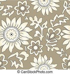 Seamless textile floral pattern