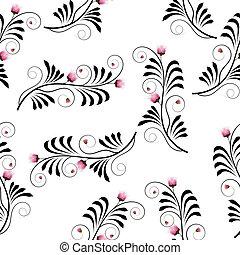 seamless, textura, com, flores, cardo