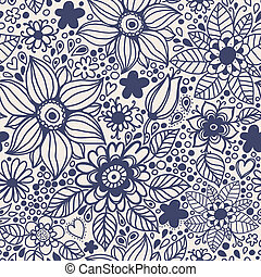 seamless, textura, con, flowers.