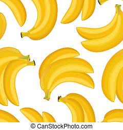 seamless, textura, de, banana