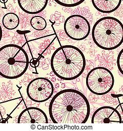 seamless, textura, de, bicicleta