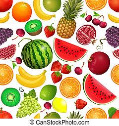 seamless, textura, de, fruta