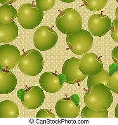 seamless, textura, de, maçãs