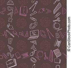 seamless, textura, en, educación