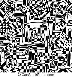 seamless, textura, en, negro y blanco, colores