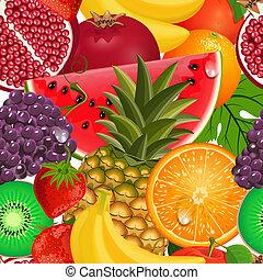 seamless, textura, jugoso, fruta