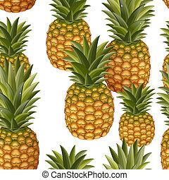 seamless, texture, ananas